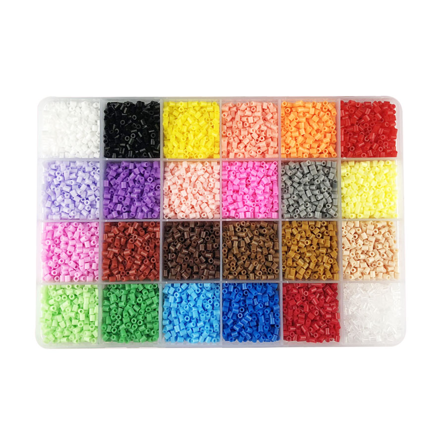 24 Colors 13,000pcs 2.6mm Hama Beads Education Perler PUPUKOU Beads 100% Quality Guarantee Fuse Beads Diy Toy