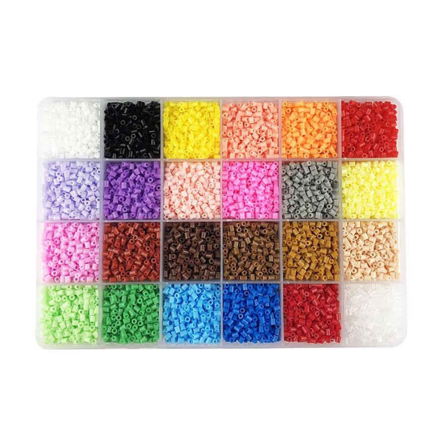 24 Colors 13,000pcs 2.6mm Hama Beads Education Perler PUPUKOU Beads 100% Quality Guarantee Fuse Beads Diy Toy