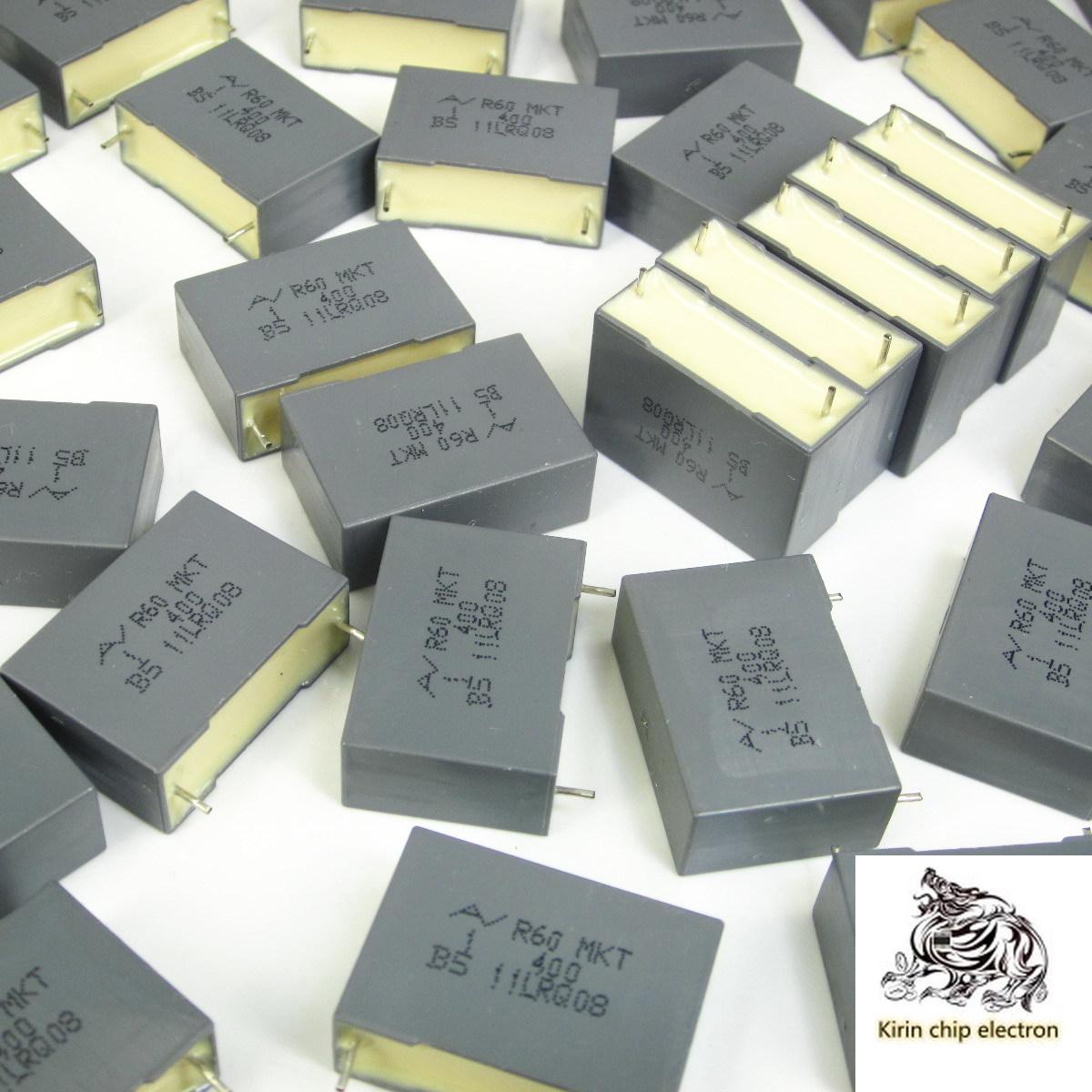 50pcs / lot brand new R60 MKT 1uf400v DC film capacitor 105 pin pitch 22.5MM