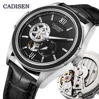 CADISEN mécanique automatique montre hommes montres-bracelets miborough 82S7 marque luxe squelette Tourbillon montre horloge Relogio Masculino
