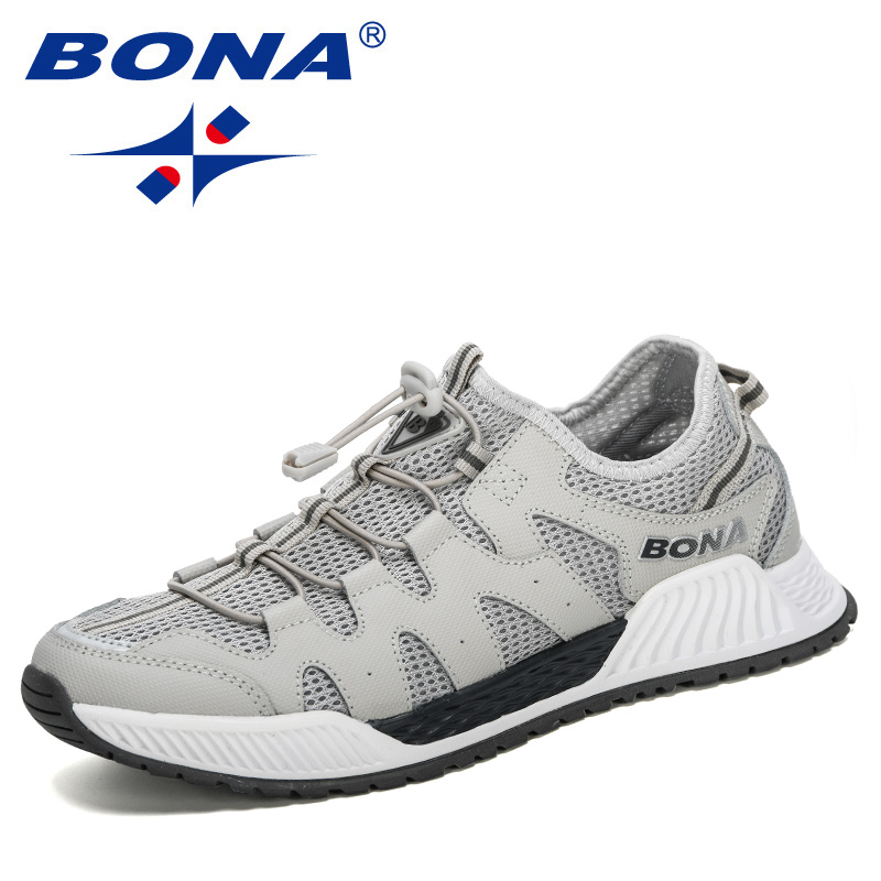 BONA 2020 New Designers Mesh Running Shoes Men 46 Large Size Sneakers Walking Jogging Casual Shoes Man Athletic Fotwear Trendy