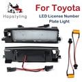 2 шт. светодиодный номерной знак светильник лампы для Toyota Rav4 2 3 XA40 Aygo Yaris Corolla Scion iM Auris Avalon Vanguard Camry Solara