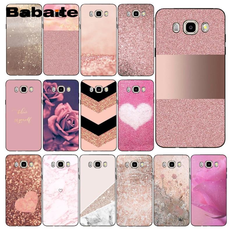 Babaite Phone-Case Coque Marble Rose Gold J4plus J7NEO Stripes Love Heart J7 Prime Samsung J7