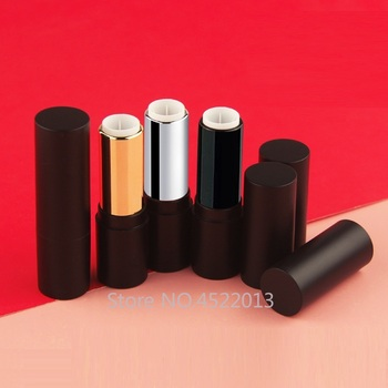 10/30/50pcs Black Silver Gold Round Empty 12.1mm Lipstick Tube Lip Balm Container Lipstick Shell Packaging Cosmetics Refillable