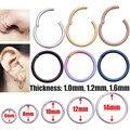 G23 титановые кольца для перегородки золотого цвета, открытые маленькие серьги для пирсинга носа, женские и мужские ювелирные изделия Для Пи...
