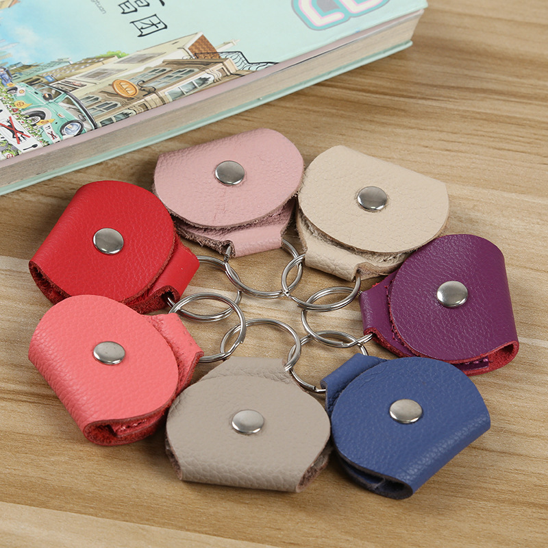 High Quality Guitar Pick Holder Genuine Leather Guitarra Plectrum Case Bag Keychain Shape Guitar Accessories