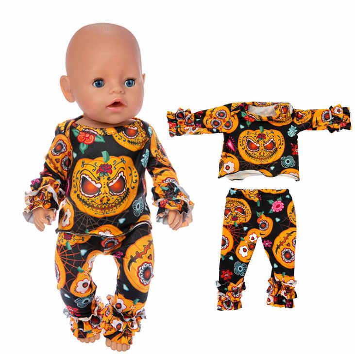 2019 جديد جميل هالوين الملابس صالح ل 43 سنتيمتر الطفل دمية 17 بوصة تولد من جديد إكسسوارات دمي