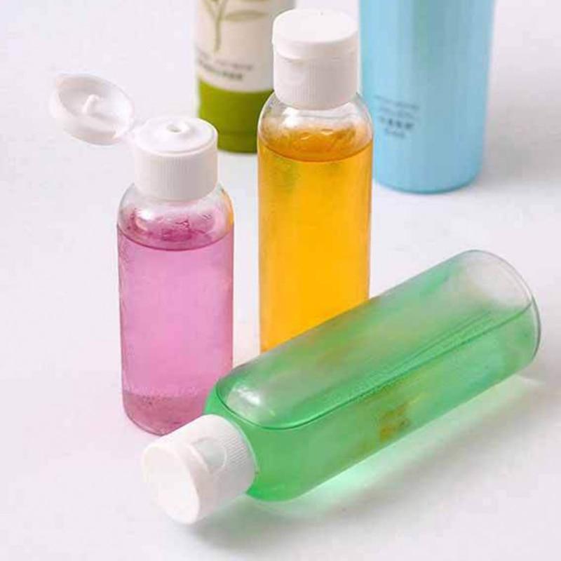 1pc 50 75 100 Ml Travel Makeup Bottle Empty Plastic Bottles Flip Cap For Liquid Lotion Cream