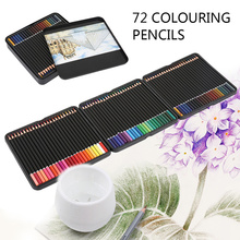 72Colors Advanced Color Pencil Iron Box Set Artist Painting Sketching Wood Drawing Pen Beginner Student Professional Full Sets
