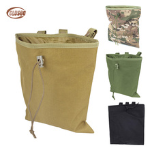 цена на Molle Bag Pouch Tactical Airsoft Large Capacity Hunting Bag Military Folding Mag Recovery Dump Pouch Molle Belt Loop Camouflage