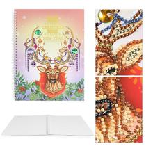 DIY Christmas Elk Special Shaped Diamond Painting 50 Pages A4 Notebook Gift painting school supplies for students