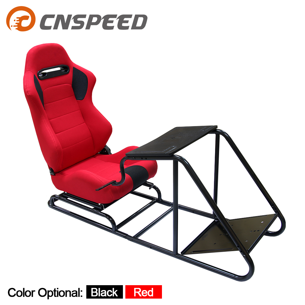 Game Gaming Racing Seat Steering+Pedal+Shift Mount Simulator Chair Driving Seat  PVC Leather Telescopic
