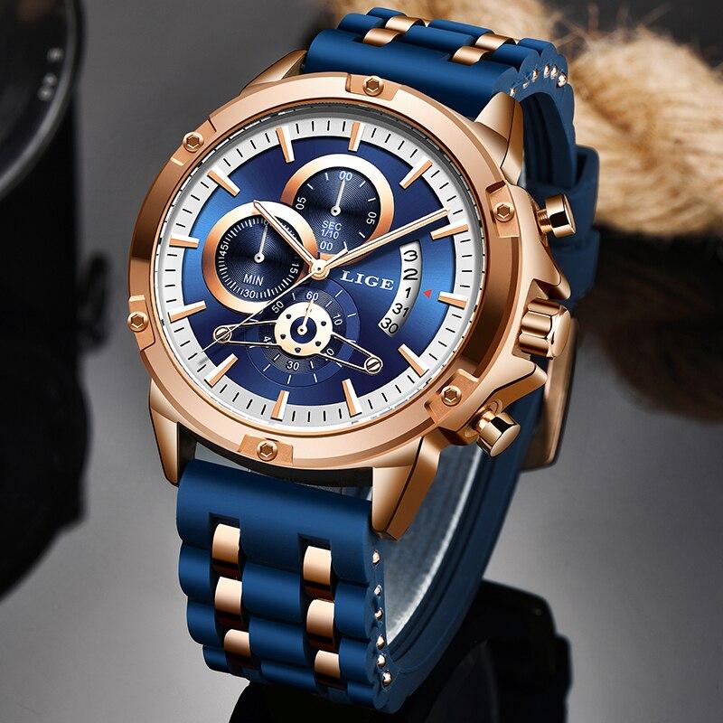 2020 New LIGE Watches Mens Quartz Clock Top Brand Analog Military Male Watches Men Sport Army Watch Waterproof Relogio Masculino