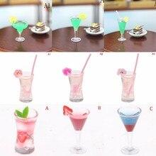 1:12 Кукольный дом треугольник коктейльный стеклянный кукольный домик Миниатюрные аксессуары красочный стеклянный Кубок Бар напитки