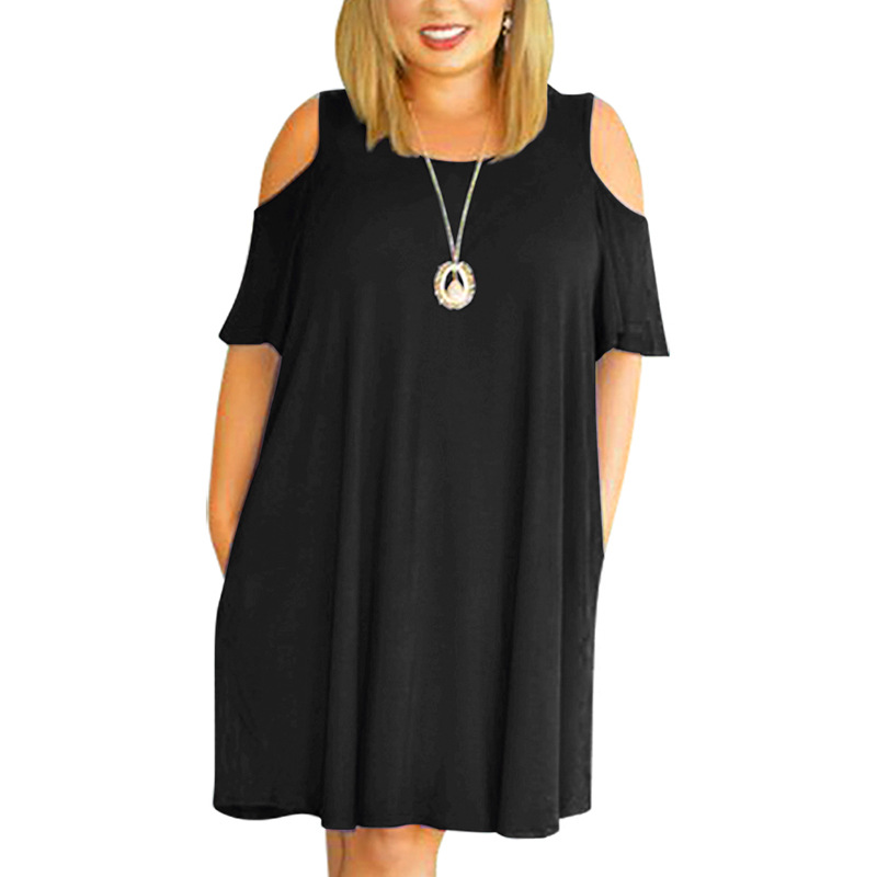 Big Size 9XL Woman Summer Dress Loose Sexy Solid Plus Size Dresses Off The Shoulder Women Clothing 9XL Party Dress Vestidos