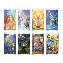 78pcs/Set Tarot Cards Games Wheel Of Read Fate Tarot Card Board Game 78-card Playing Card Game Entertainment карты таро u s games systems мечты гайи dreams of gaia tarot