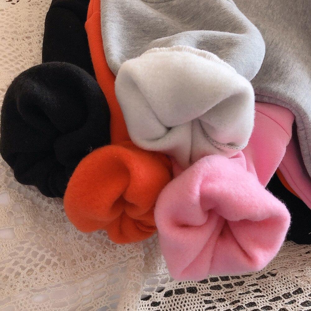 2021 Autumn Winter New Arrival Girls Fashion Bear T Shirt Kids Candy Color Warm Fleece Tops  Kids Clothes 3