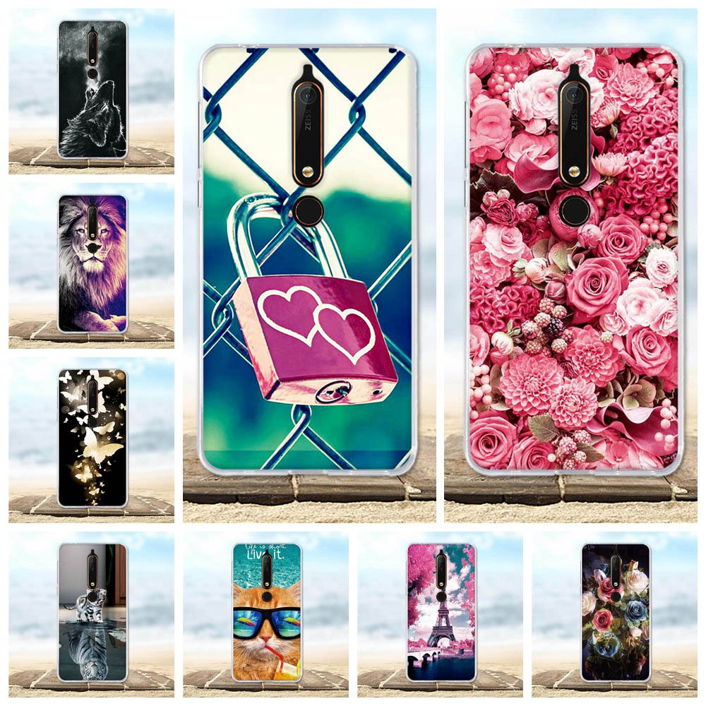 For Nokia 6 2018 Case Painted Protective Silicone Cover For Nokia 6.1 Case 3D Cute Cat For Nokia 6.1 / Nokia 6 2018 Phone Cases