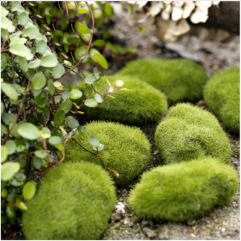 Artificial Green Fake Soss lawn Mossy Stone Simulation Plant DIY Decoration For Shop Window Hotel Home Office Plant Garden Decor image
