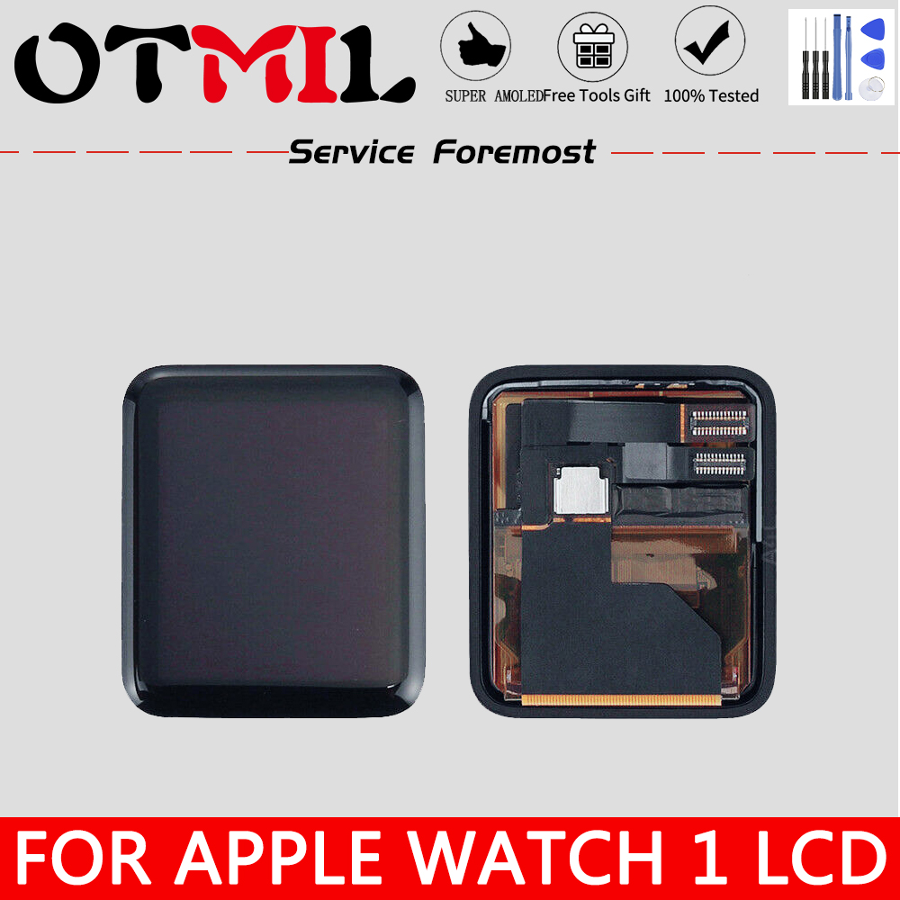 OTMIL LCD For Apple Watch 1 LCD Display Touch Screen Digitizer 38mm Sapphire For Apple Watch Series 1 42mm Sport Assembly Glass image