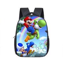 12 Polegada mario bros sacos de escola para o jardim de infância crianças mochila escolar para meninas meninos mochilas das crianças