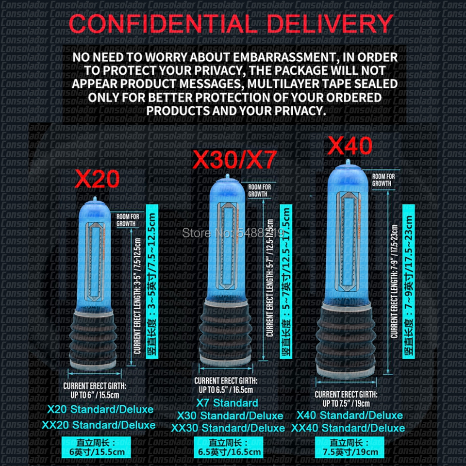 Massage-Care-Pump Extender Assist X20 X30 X40 Xtreme Penis Pump Penis Enlargement Enhancer Water Spa Penis Extender Proextender