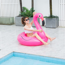 120cm Flamingo Inflatable Swimming Ring for Pool Adult Baby Swimming Ring Float Swim Circle Pool Toys Beach Party Supply inflable piscina rubber swim ring adult pool floats inflatable flamingo giant float children s circle donut inflable water toys