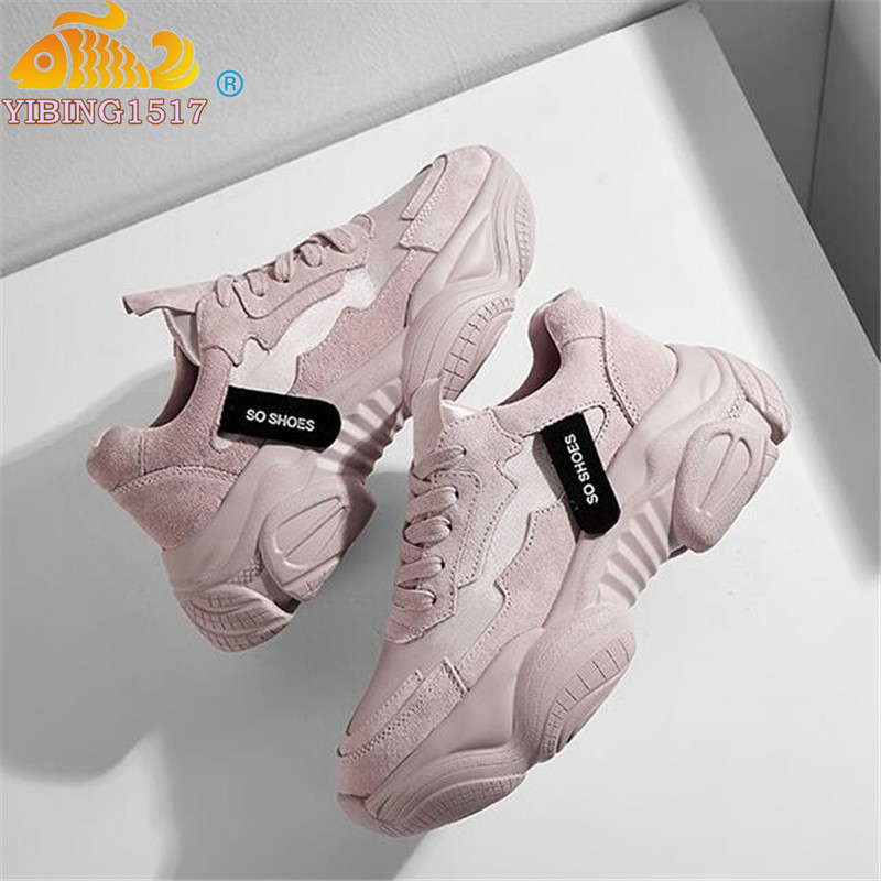 NAUSK 2019 New Women Shoes Spring New Women's Shoes Ulzzang Platform Sports Shoes Female Wisdom Shoes Women Snekaers