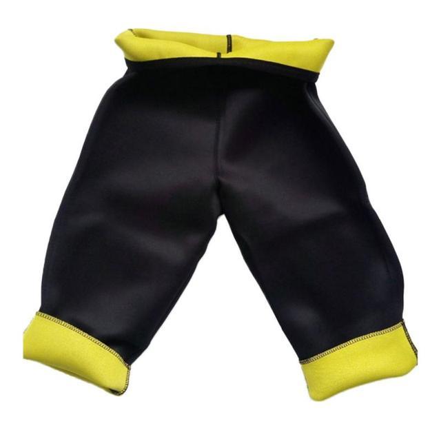 Hot selling yoga pants fitness sauna shaping pants corset belt cropped pants burst sweat pants self-heating weight loss pant NEW 1