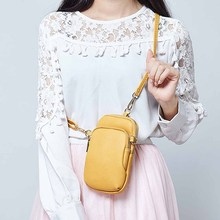 New Casual Leather Messenger Bags Women Clutch Mini Crossbody Shoulder Bag Ladies Large Capacity Phone Bag Purse With Zipper yufang women messenger bag genuine leather shoulder bag women solid color ladies mini bag large capacity clutch bag female