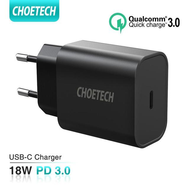"CHOETECH USB סוג C פ""ד מטען 18W עבור iPad iPhone 11 פרו מהיר תשלום 4.0 QC 3.0 מהיר קיר מטען עבור huawei סמסונג xiaomi"