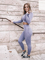 Women Vital Seamless Yoga Set Gym Clothing Fitness Leggings+Cropped Shirts Sport 2 Pieces Set Tracksuit Active Wear