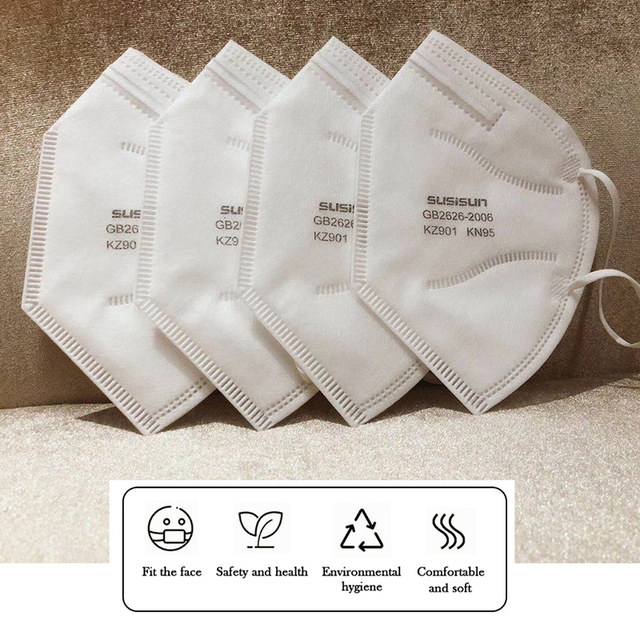 1pcs Mask Half Face Anti Dust Pollution Mask Respirator PM2.5 Dustproof Flu Safety Protective Masks Mouth-muffle yn 5