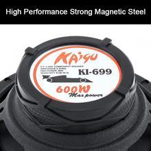 лучшая цена 6.5 Inch 2-Way 600W Car Speaker Subwoofer Treble Midrange Bass Speaker Loudspeaker Component Systems