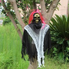 Creepy Skeleton Halloween Horror Electric Hanging Ghost Bar Haunted House Decoration Props 1PC