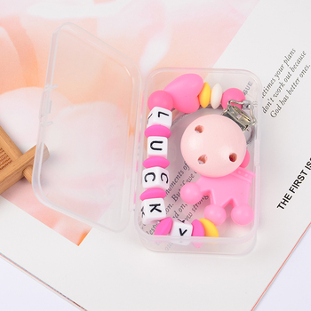 Cute Crown Pacifier Clips Nipple Holder for Baby Personalized Name Pacifier Food Grade Safe Silicone Baby Pacifier Chain/Clip personalized name baby teether silicone pacifier clips holder infant teething toys baby shower gift food grade silicone