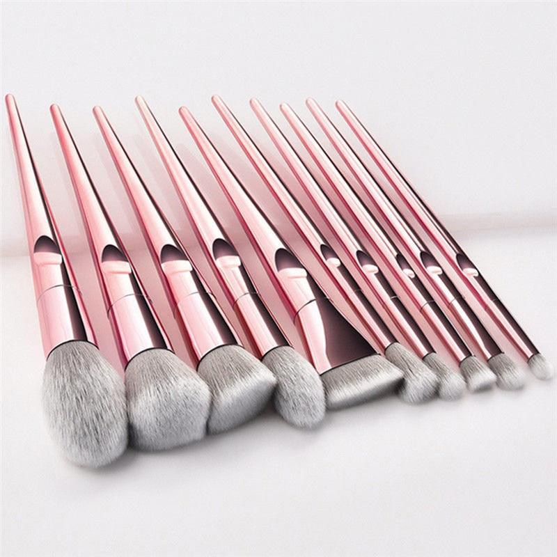 Элегантные кисти для макияжа с розовым золотом/бриллиантом 10 шт./партия единорогом элегантные женские косметические инструменты для макия...