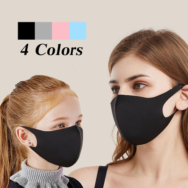 1PCS Mask Dustproof Mouth Face Mask Kpop Lucky Bear Women Men Muffle Face Mouth Masks k-pop black mask