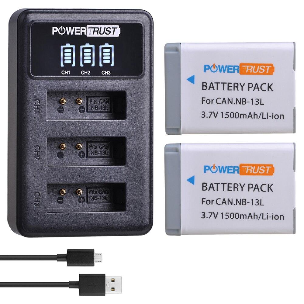 2 sztuk NB-13L NB13L NB 13L bateria + LED 3-gniazda ładowarka do Canona PowerShot G5X G7X G9X G7 X Mark II G9 X, SX620 SX720 SX730 HS