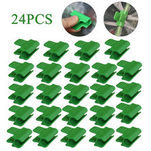 24Pcs 1Mm Plant Stakes Pijp Klemmen Multifunctionele Buitendiameter Kas Schuur Film Rij Cover Shading Netting Tunnel Hoepel clip(China)