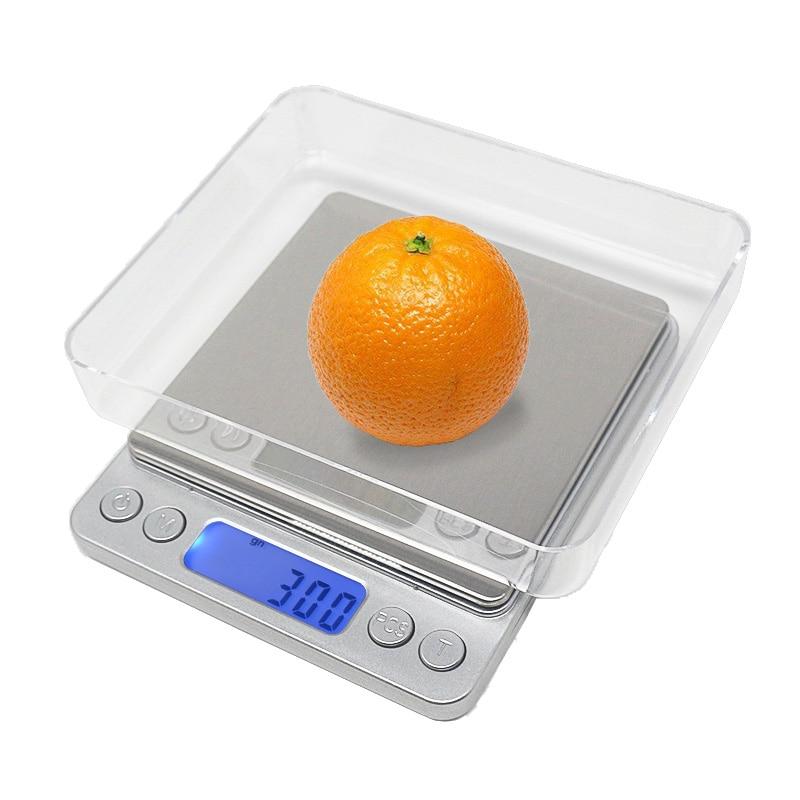 Bilancia da cucina digitale Bilancia per gioielli 3 kg 0,1 g 500 g 0,01 g Bilancia tascabile LCD portatile ad alta precisione