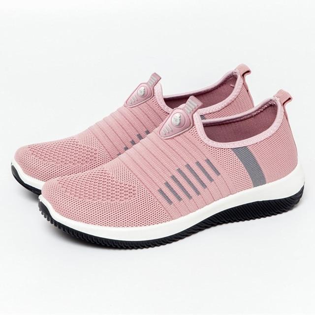 JAYCOSIN Spring Sock Sneakers Women Breathable Mesh Running Shoes Women Slip On Red Socks Sports Shoes Flats Footwear Cheap 41 2