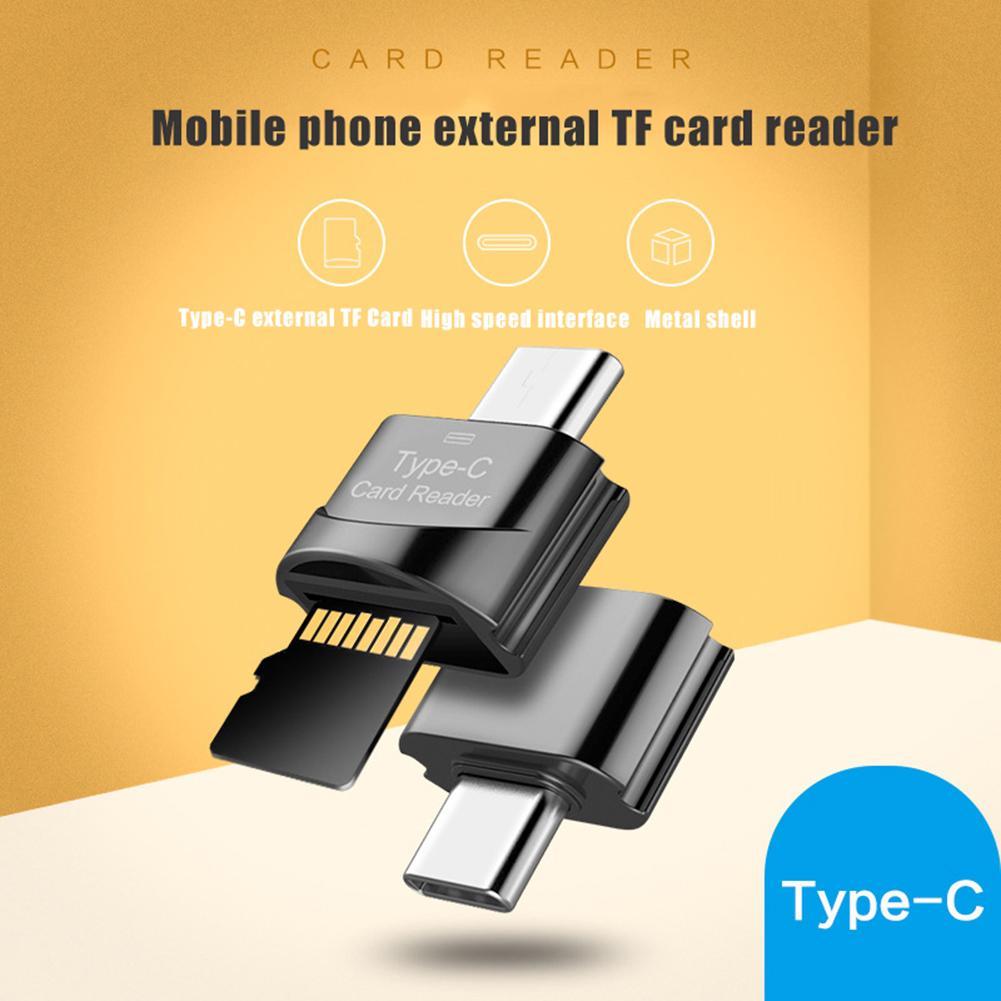 Leitor de cartão de alta velocidade micro-usb/tipo-c leitor de cartão de memória tf micro-sd otg adaptador de telefone leitor de cartão micro sd