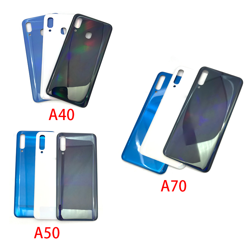 Replacement Glass <font><b>Battery</b></font> Back Cover <font><b>Case</b></font> For <font><b>Samsung</b></font> <font><b>Galaxy</b></font> A40 A50 <font><b>A70</b></font> A405F A505F A705F image