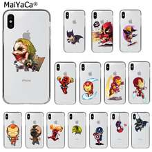 Maiyaca Marvel Dc Spiderman Catwoman Batman Deadpool Klant Telefoon Case Voor Iphone 11 Pro Xs Max 8 7 6 6S Plus X 5 5S Se Xr(China)