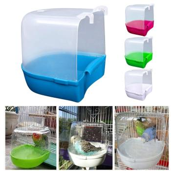1Pcs Plastic Bath Bird Cage Parrot Supplies Anti-aging Bathing Tub For Small Birds Canary Budgerigar 2