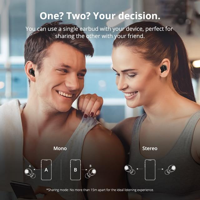 [Newest Version] Tronsmart Spunky Beat Bluetooth TWS Earphone APTX Wireless Earbuds with QualcommChip, CVC 8.0, Touch Control 5