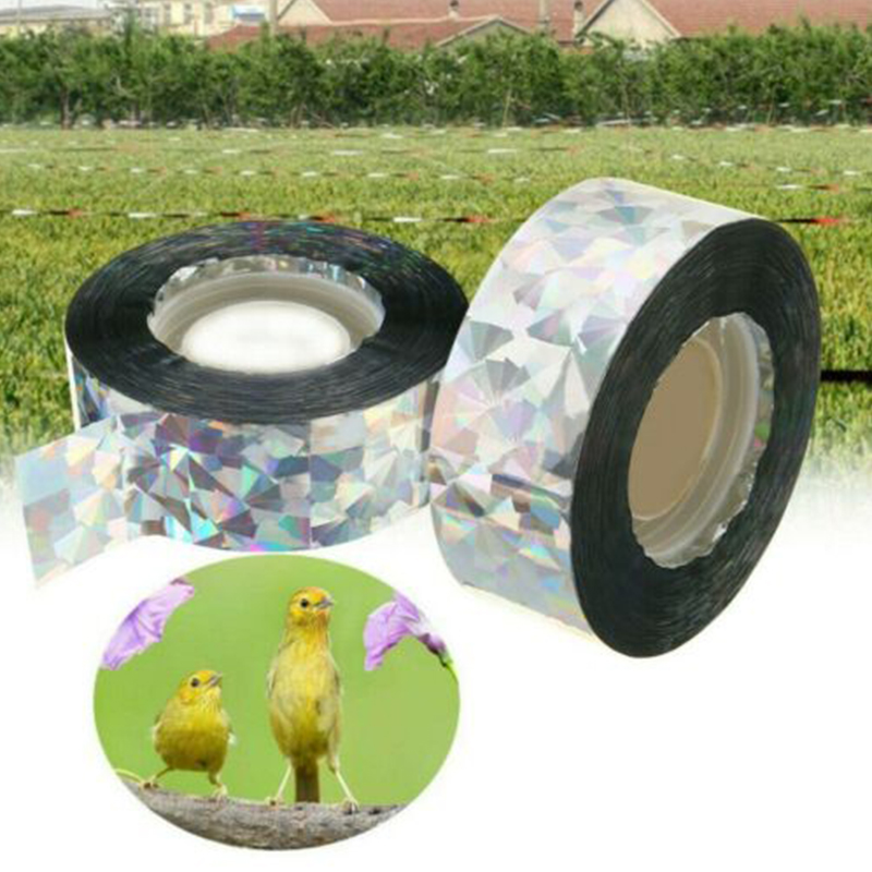 Anti Bird Tape Bird Scare Tape Audible Repellent Fox Pigeons Repeller Ribbon Tapes for Pest Control 90M(China)