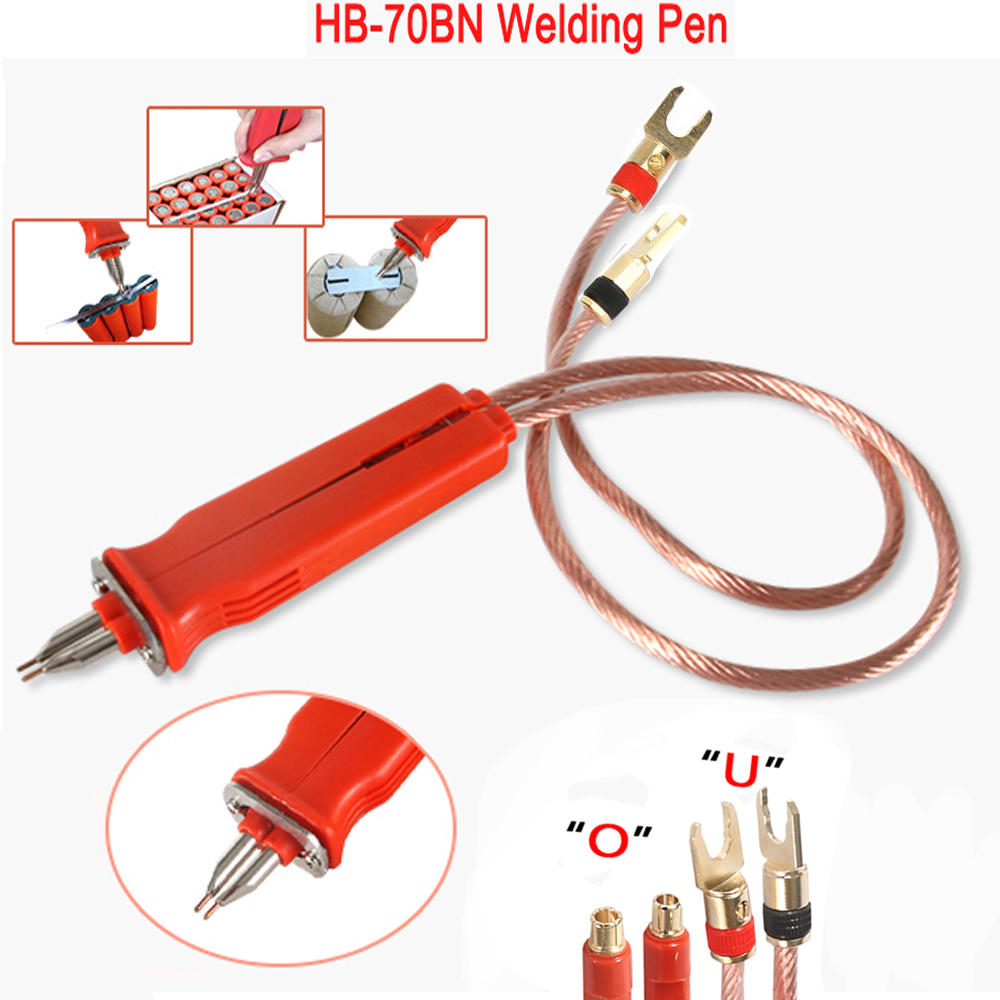 HB-70B Spot Welding Pen Handle For 18650 Lithium Battery Production DIY Pulse Welding Pen Remote Welder Large Size Battery Pack