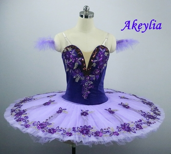The Nutcracker Purple Ballet Tutu Girls Pancake Professional Platter Doll Stage Costume Kids Classical Ballet Tutu Dress Adult fairy princess professional tutu pink women ballet pancake costume blue platter pancake bellrina pink white tutu for child